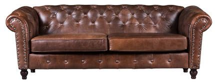 Rochelle Leather Sofa   Wetherlys