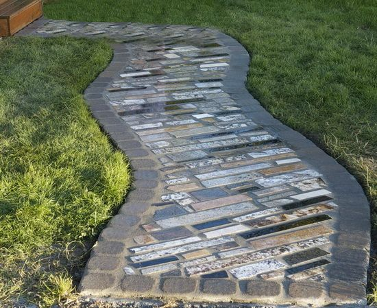 64 best granite scrap ideas images on pinterest granite for Inexpensive walkway ideas