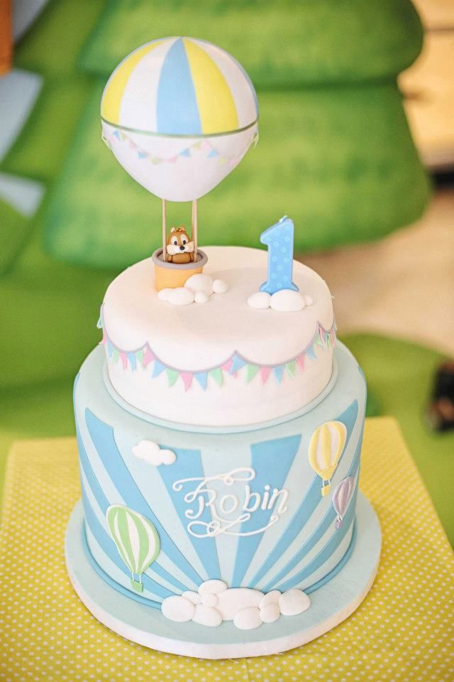 Tartas de cumpleaños - Birthday Cake - Hot air balloon cake