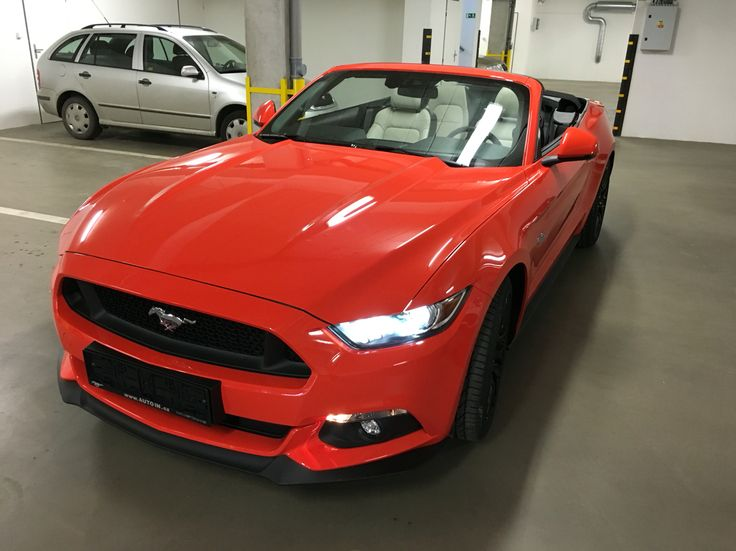 Brand new 2016 Ford Mustang GT convertible / competition orange / ceramic inter. - EU spec. #mustang #competition orange #ford #GT #ceramic