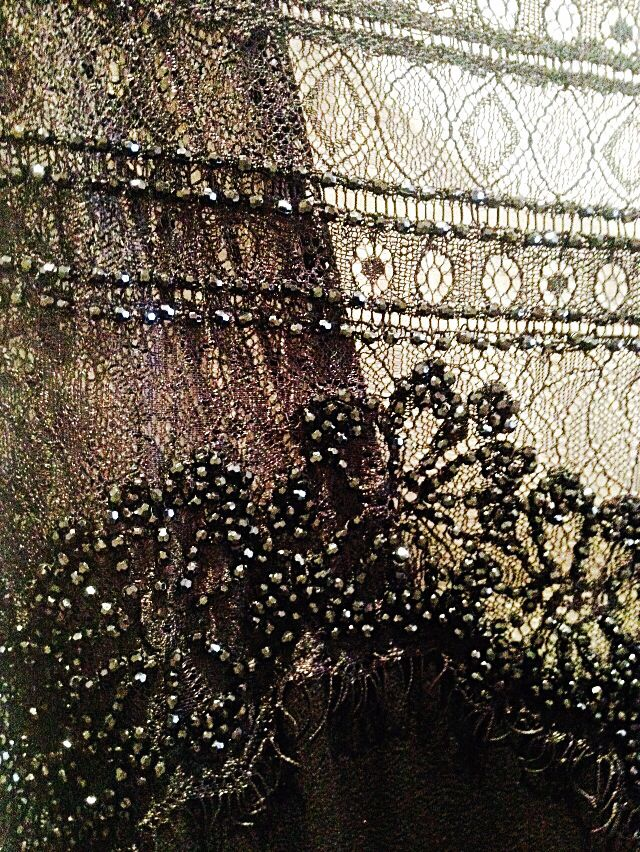 Hand beaded dress detail by Magali Pascal