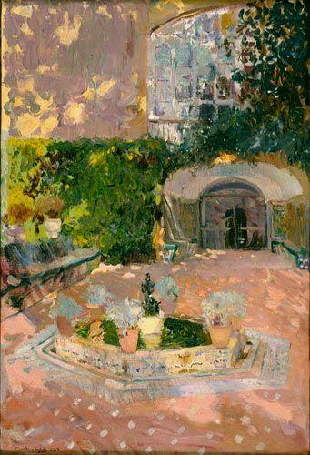 Joaquín Sorolla Bastida (1863-1923). Fuente del Alcázar de Sevilla. 1908