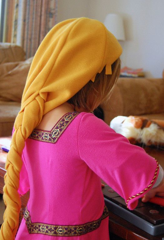 make a huge braid for rapunzel