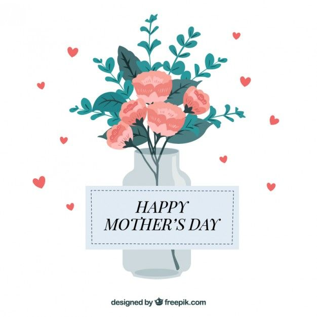 Flowers bouquet design for mother's day Free Vector