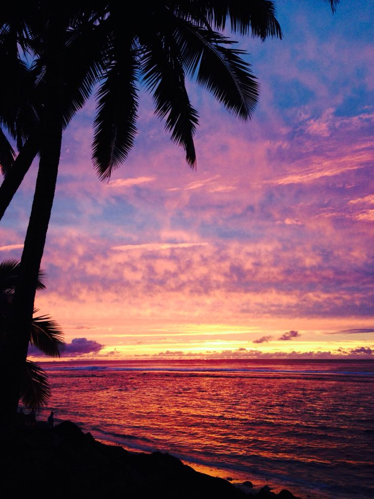 Rarotonga sunset, My brother is living the dream there!