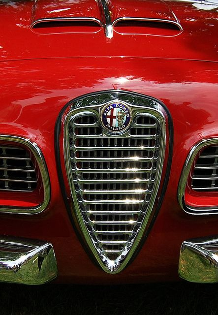 """Alfa Romeo """"Is it a shield, is it a nose?Whatever it is it is totally Alfa"""" KB"""