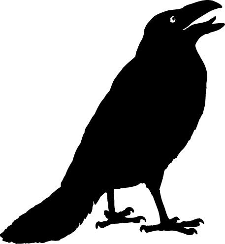 standing crow looking up vinyl wall decal by wilsongraphics - Halloween Crows