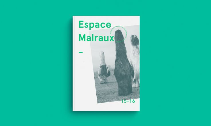 Design éditorial du programme de la saison 2015-2016 de l'Espace Malraux
