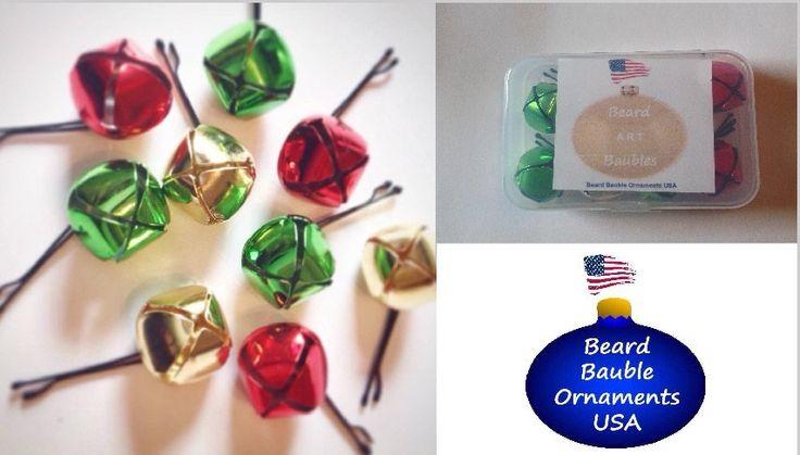 Beard Bells Beard Bauble Ornaments Beard Art Baubles For the Beard Baubles for the Beard set 20mm Beard Bells, Jingle Beard by BeardBaubleOrnaments on Etsy https://www.etsy.com/listing/258089421/beard-bells-beard-bauble-ornaments-beard