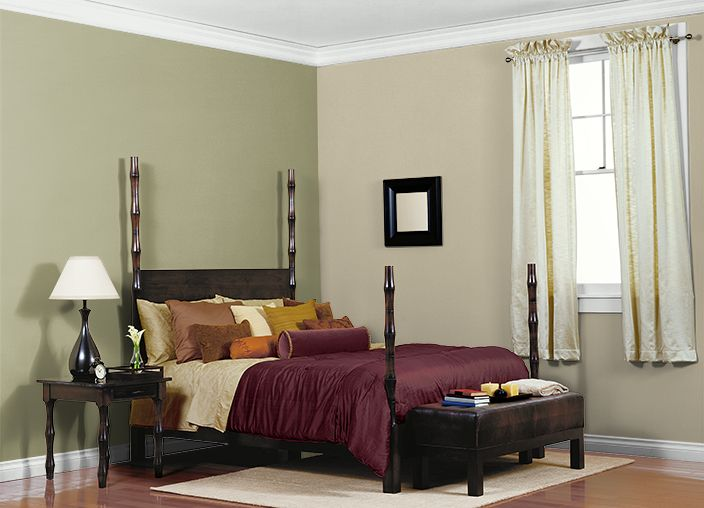 This is the project I created on Behr.com. I used these colors: DILL SEED(PPU9-20),PRAIRIE HOUSE(PPU9-12),URBAN NATURE(S380-3),BERMUDA GRASS(MQ6-57),
