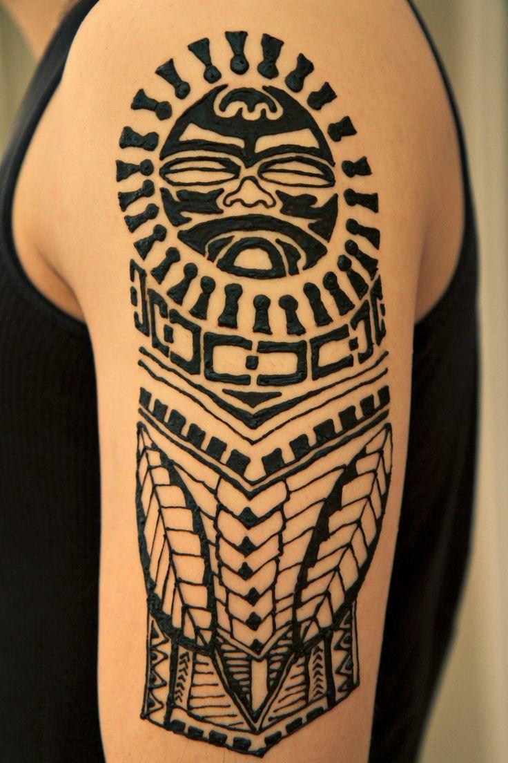 Henna tattoo designs for men - Polynesian Henna Henna Mentribal Hennahenna Tattoo Designshenna
