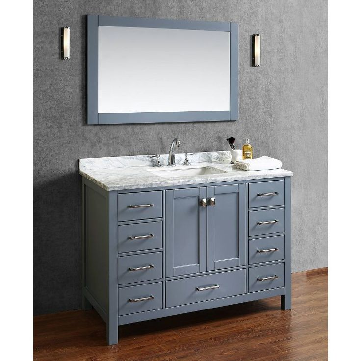 48 inch bathroom vanity without top