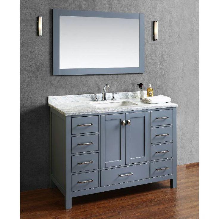Best 20 bathroom vanities without tops ideas on pinterest - 48 inch bathroom vanity without top ...