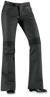 Icon Womens Hella Leather Motorcycle Pants Black