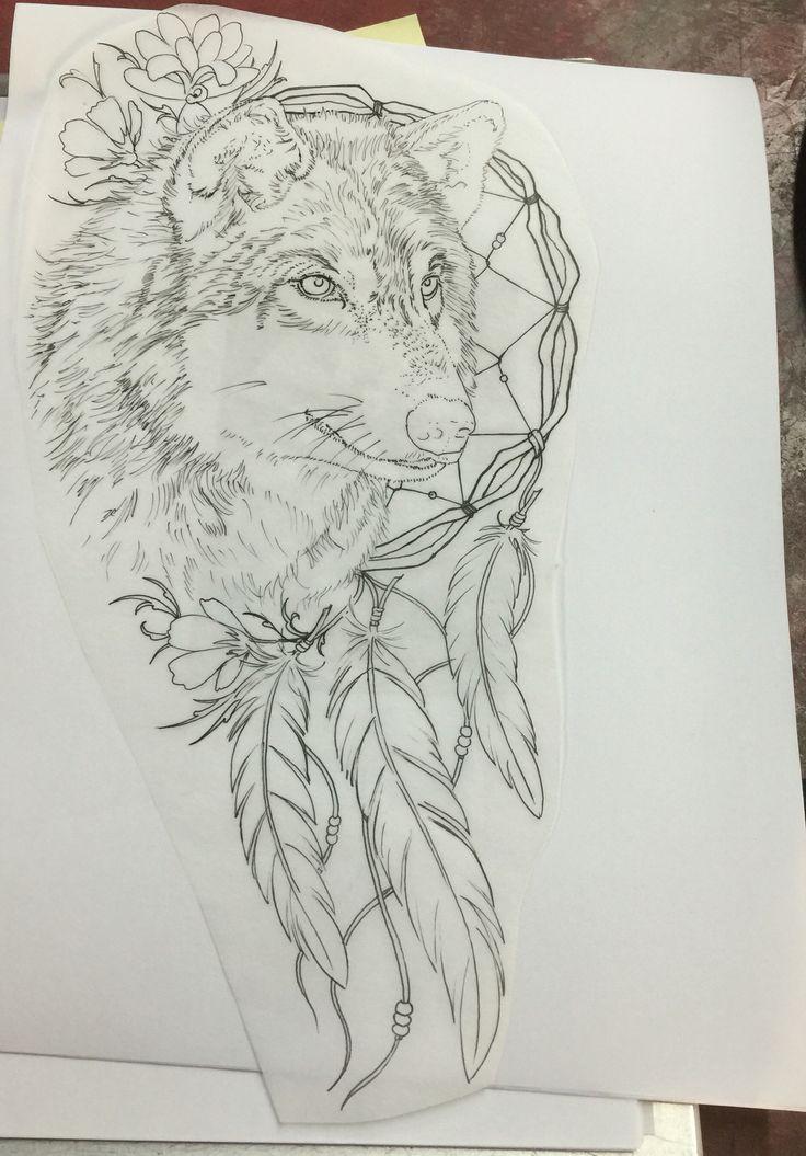Wolf tattoo dreamcatcher - photo#47