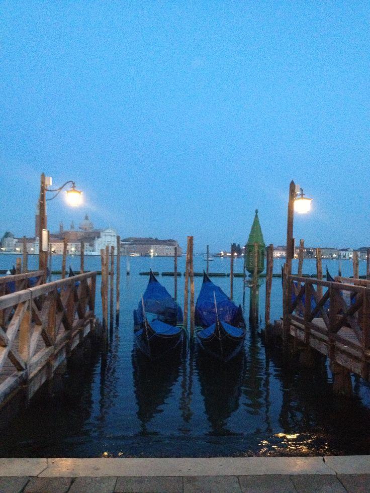 she sleeps Venice at dusk 2013