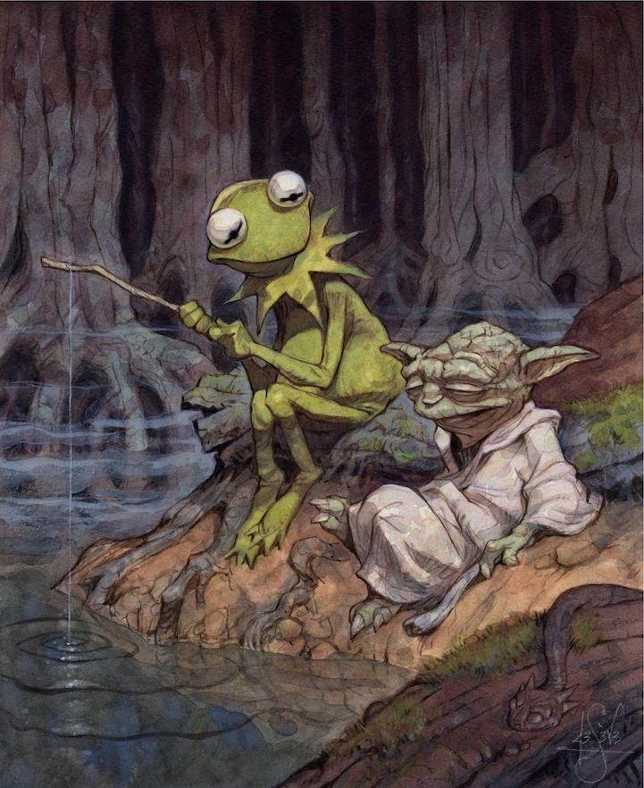 Easy Being Green, It Is Not: Muppets, Green, Stars War, Peter De, Kermit, Deseve, Frogs, De Seve, Starwars