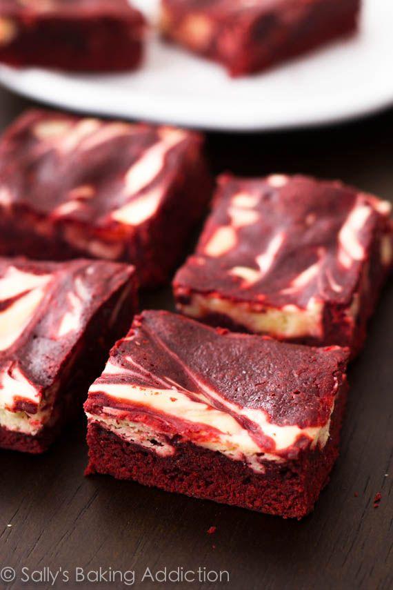 Red Velvet Cheesecake Brownies. Decadent, moist,  indulgent! sallysbakingaddiction.com
