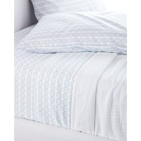 Serena & Lily Chambray Knot Sheet Set California King ($258) ❤ liked on Polyvore featuring home, bed & bath, bedding, bed sheets, cal king bed sheet sets, california king sheet set, western king bedding, california king bedding and calif king bedding