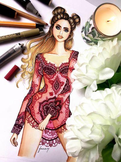 Fashion illustrations, home decor and stationary. Etsy shop: https://www.etsy.com/shop/Fannysillustrations Instagram: fannydebreczeni_illustrations #fashionillustration #handmade #stationary #decor
