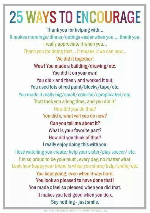 25 ways to encourage