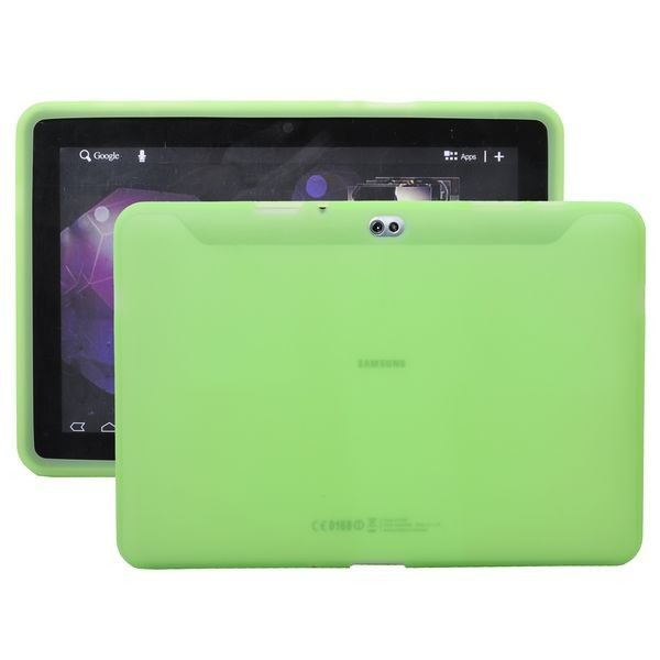 Soft Shell Transparent (Grøn) Samsung Galaxy Tab 10.1 P7500 Cover