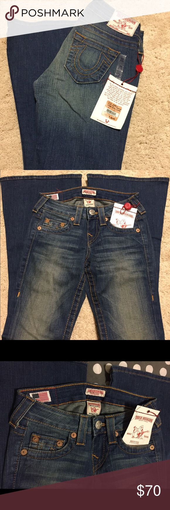 True Religion Carrie Petite Flare Jeans Brand new Carrie Petite Flare True Religion Jeans with original tag. Perfect everyday wear jeans. True Religion Jeans Flare & Wide Leg