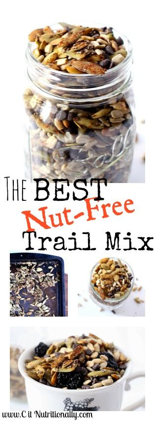 The Best Nut-Free Trail Mix perfect for school snack, 100% food allergy friendly! | Gluten Free, Nut Free, Peanut Free, Egg Free, Dairy Free | C it Nutritionally