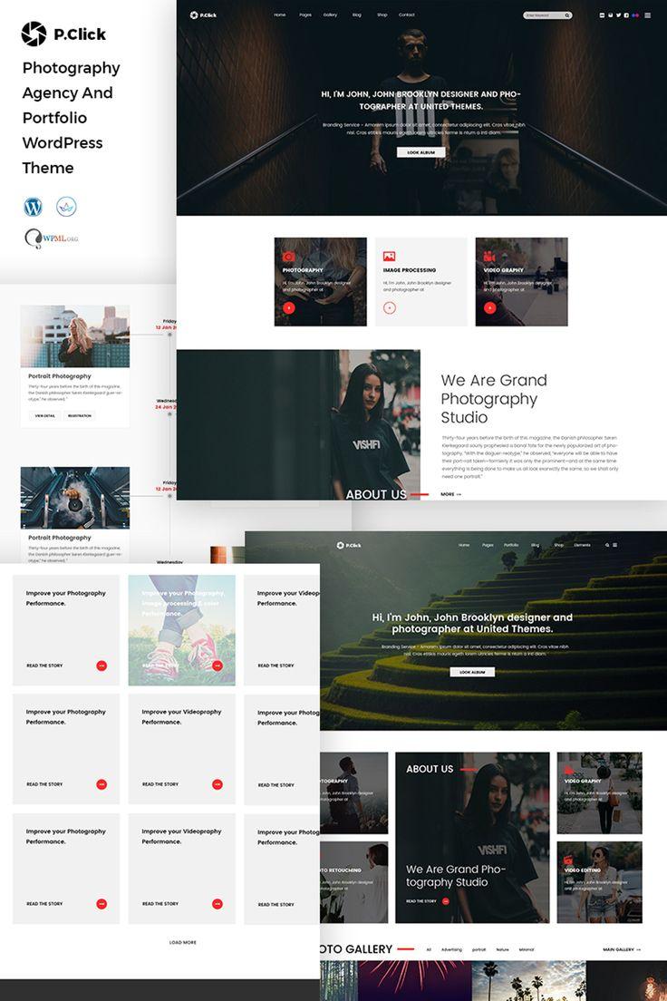 PClick Photography WordPress Theme Big Screenshot