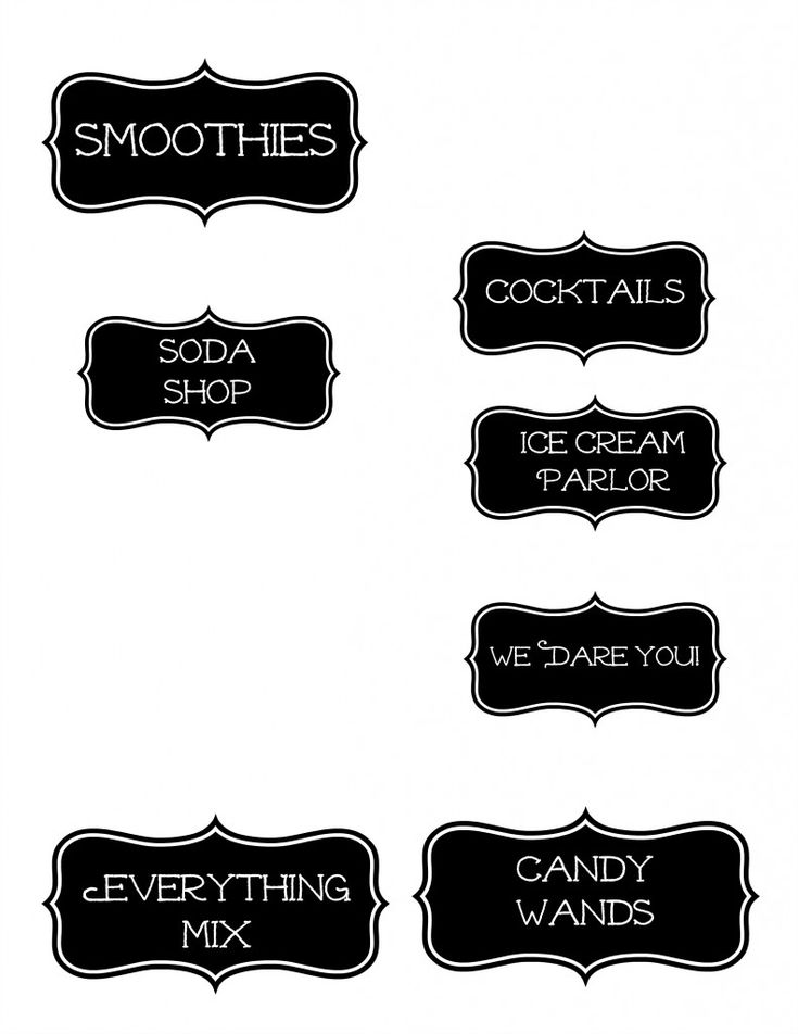 Harry Potter - candy labels
