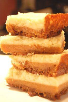 Bourbon Sweet Potato Cheesecake Bars yummmmm