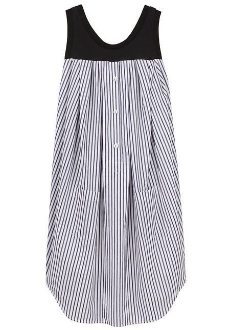 Striped cotton tank dress by VIKTOR & ROLF.  $367.50 but... could easily DIY with a thrifted men's dress shirt.