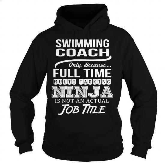 Awesome Tee For Swimming Coach #shirt #style. MORE INFO => https://www.sunfrog.com/LifeStyle/Awesome-Tee-For-Swimming-Coach-96961318-Black-Hoodie.html?60505