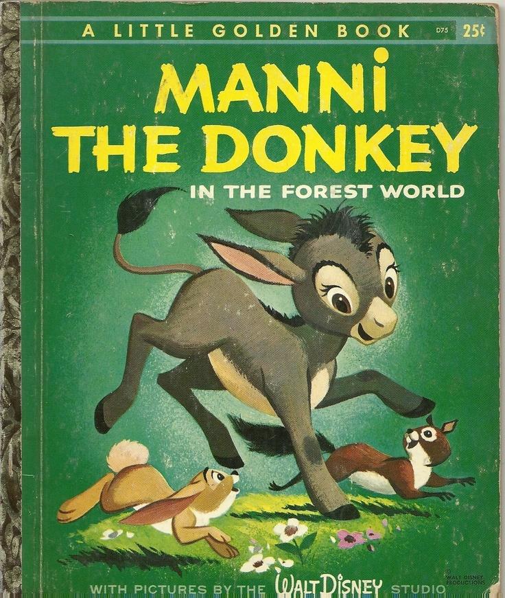 "1959  Little Golden Book ""MANNI THE DONKEY"" | eBay"