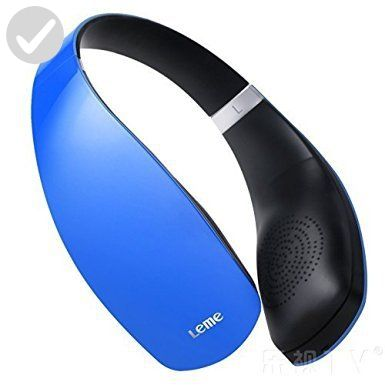 Leme EB30A Wireless Ergonomic Bluetooth 4.1 Over Ear Headphone with Built-in Mic and 12 Hour Battery, with Noise Reduction and Echo Cancellation, Perfect Headset for Gaming and Music (Blue) - Audio gadgets (*Amazon Partner-Link)