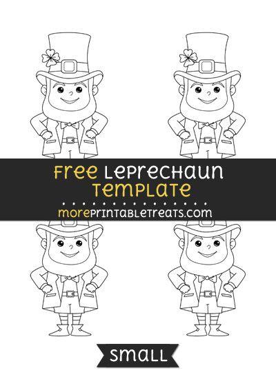 Free Leprechaun Template Small