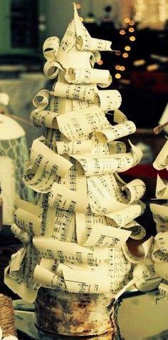 music sheets DIY for christmas, 2013 christmas tree DIY, ideas of christmas tree
