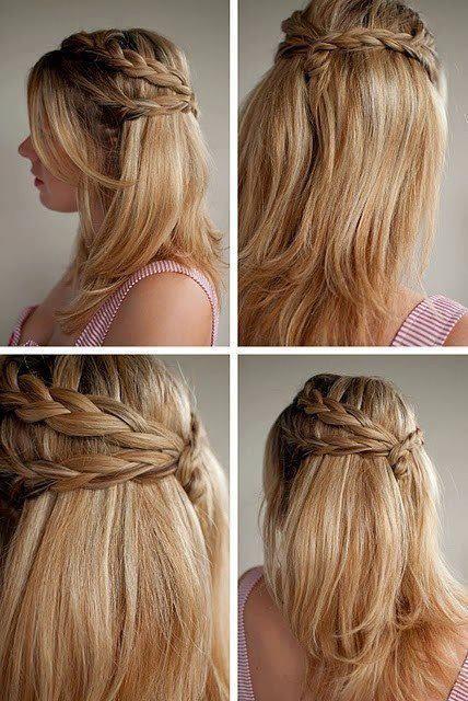coiffure simple pour l'école ou le travail