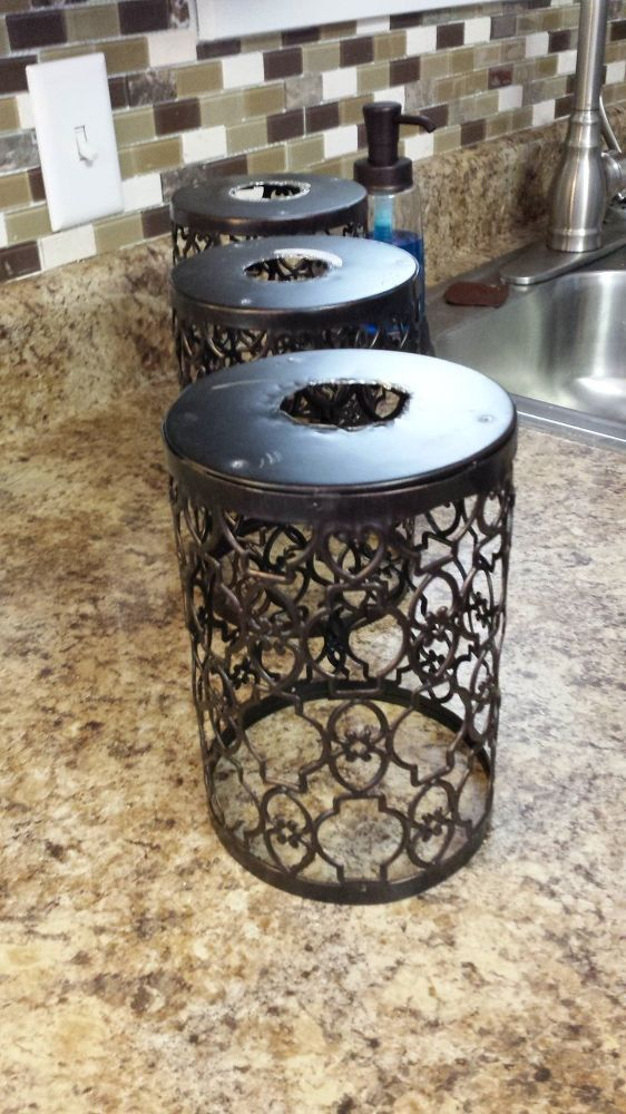 After seeing her kitchen idea, I will never look at a candle holder the same way again!