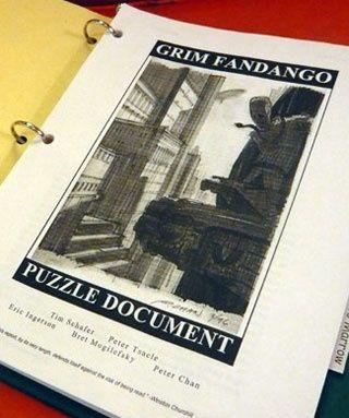 Tim Schafer Publishes Original Grim Fandango Design Doc / Documento de diseño de Grim Fandango, liberado por su creador Tim Schafer en 2008.