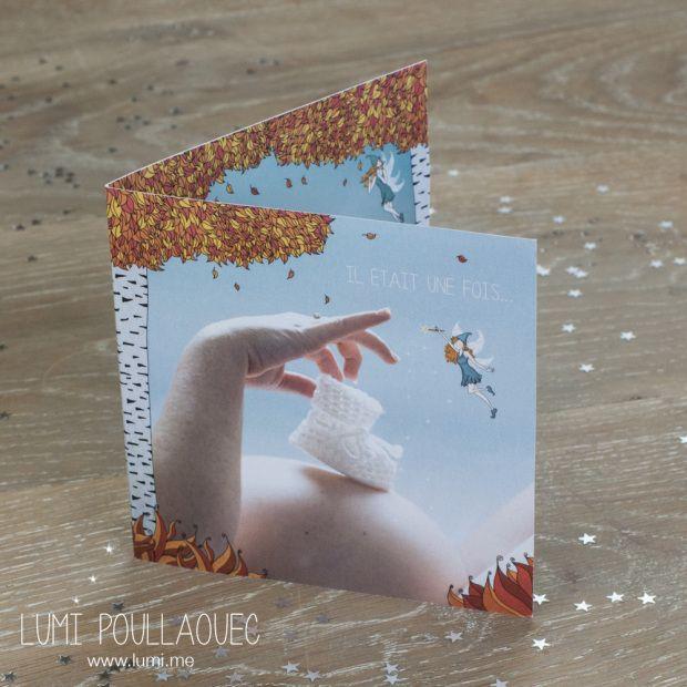 J'ai réalisé un faire-part de naissance tout mimi ! :)  ©Lumi Poullaouec #Illustration #naissance #Photographie