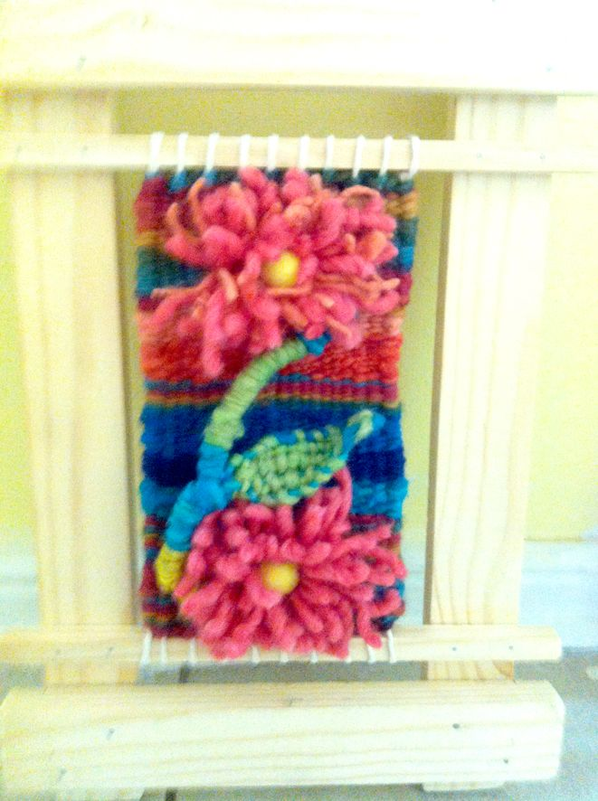 Un pequeño mural con flores de Teresa