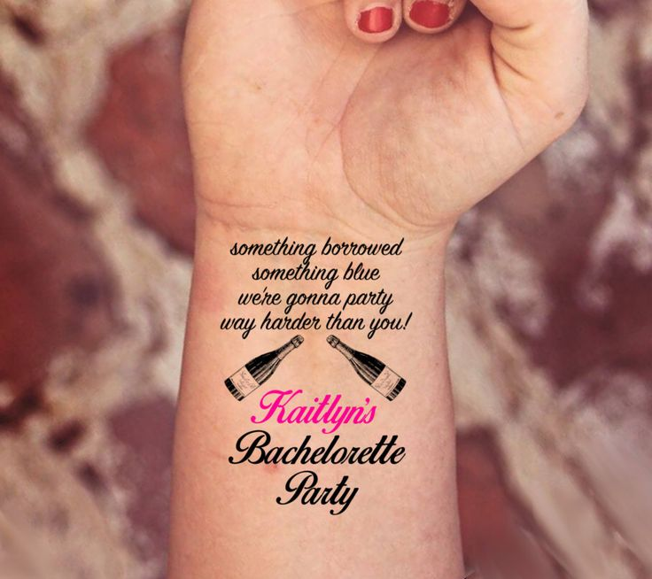 Personalized customized bachelorette party hen party for Bachelorette party tattoos