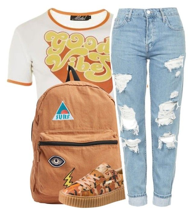 """""""vintage good vibes 😎"""" by fashion123123 ❤ liked on Polyvore featuring Topshop, Billabong, Puma and vintage"""