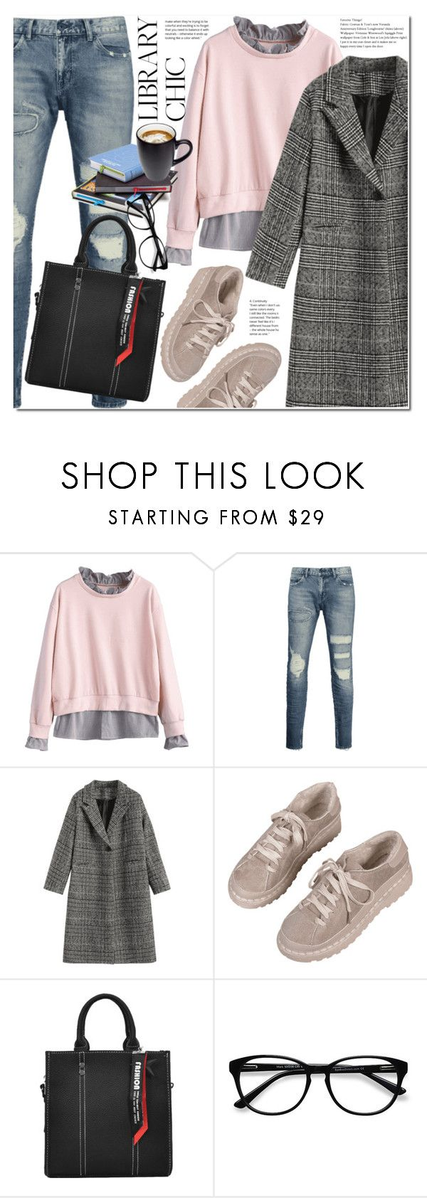 """""""Work Hard, Play Hard: Finals Season"""" by duma-duma ❤ liked on Polyvore featuring EyeBuyDirect.com and finals"""