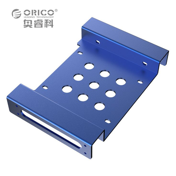 ORICO AC52535-1S 5.25-Inch Drive Bay to 3.5-Inch Hard Drive Rack SSD Solid Drive Aluminum Bracket - Blue //Price: $8.99 & FREE Shipping //     #hashtag4