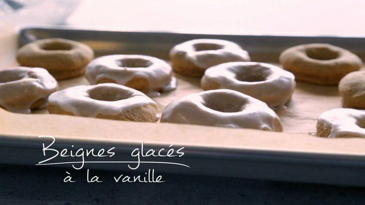 Beignes glacés à la vanille