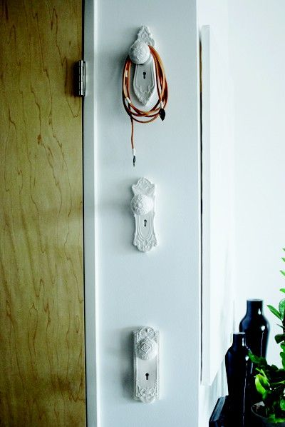 Gorgeous hooks for bags etc. Neat idea!