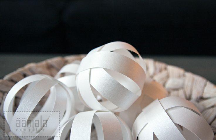 DIY Paper ornament ball