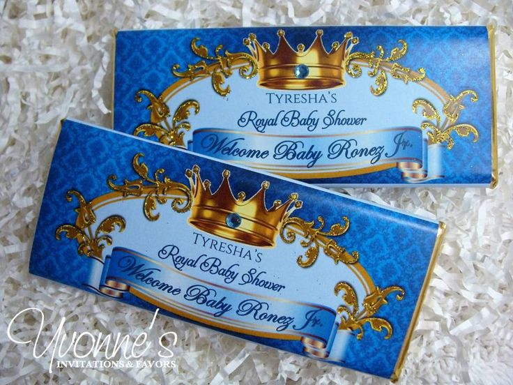 Royal Baby Boy Prince Candy Bar Wrappers - Chocolate Bar Favors - Royal Blue and Gold Baby Shower, First Birthday, Baby Birth Announcement by CandyBarBoutique on Etsy https://www.etsy.com/listing/451015464/royal-baby-boy-prince-candy-bar-wrappers